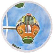 In Descent Round Beach Towel