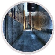 In The Alley Round Beach Towel by Dan Stone