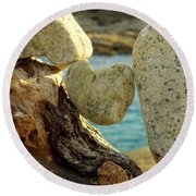In The Heart Of Things Round Beach Towel