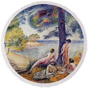 In The Shade Round Beach Towel