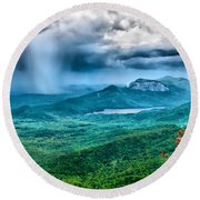 Incoming Storm Round Beach Towel