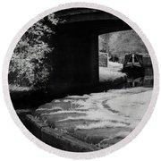 Infrared At Llangollen Canal Round Beach Towel