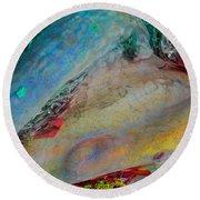 Round Beach Towel featuring the digital art Inner Peace by Richard Laeton