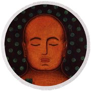 Round Beach Towel featuring the painting Inner Visions by Gloria Rothrock