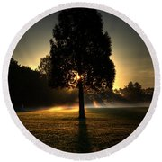 Inspirational Tree Round Beach Towel