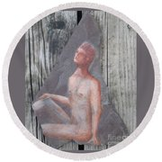 Interested Man Round Beach Towel