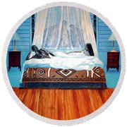 Intimate Reflections Round Beach Towel