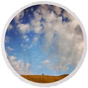Into The Nowhere Round Beach Towel