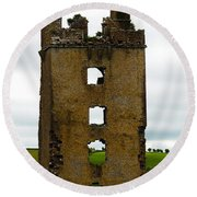 Ireland- Castle Ruins II Round Beach Towel