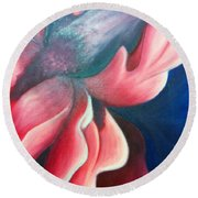 Iris O'keefe Round Beach Towel