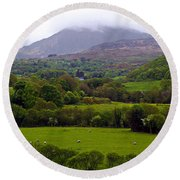 Irish Countryside II Round Beach Towel