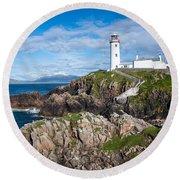 Irish Lighthouse Round Beach Towel