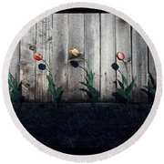 Is It Spring Yet? Round Beach Towel