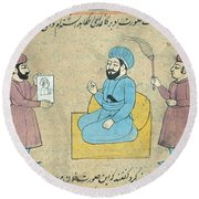Islamic Men, 17th Century Round Beach Towel