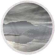 Round Beach Towel featuring the digital art Isle Of Serenity by Phil Perkins