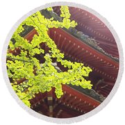 Japanese Tea Garden Round Beach Towel
