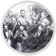 Jean Goldkette Orchestra 1926 Round Beach Towel