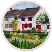 John Abbott House Round Beach Towel