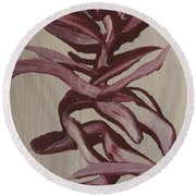 Jungle Pinks Round Beach Towel