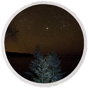 Jupiter  Over Otter Point 3 Round Beach Towel by Brent L Ander