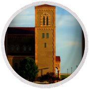 Round Beach Towel featuring the photograph Kansas Architecture by Jeanette C Landstrom