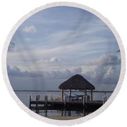 Key Largo Retreat Round Beach Towel