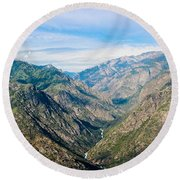 Kings Canyon And Beyond Round Beach Towel