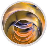 Kiss Me - Abstract Art Round Beach Towel