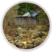 Round Beach Towel featuring the photograph Klepzig Mill by Marty Koch