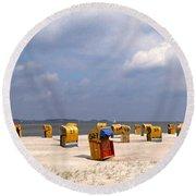 Laboe Beach ... Round Beach Towel