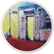 Lafitte's Blacksmith Shop From The Shortside Round Beach Towel