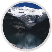 Round Beach Towel featuring the photograph Lake Louise II by Sharon Elliott