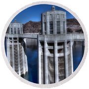 Lake Mead Hoover Dam Round Beach Towel