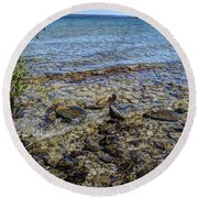 Lake Michigan 1 Round Beach Towel