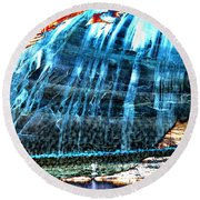 Lake Powell Reflection Round Beach Towel