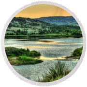 Lakeside View Round Beach Towel