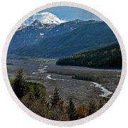Round Beach Towel featuring the photograph Landscape Of Mount St. Helens Volcano Washington State Art Prints by Valerie Garner
