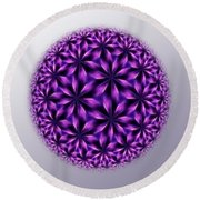 Last Dream Mandala Round Beach Towel
