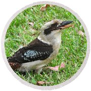 Laughing Kookaburra Round Beach Towel