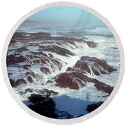 Round Beach Towel featuring the photograph Lava Rock 90 Mile Beach by Mark Dodd