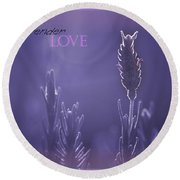 Round Beach Towel featuring the photograph Lavender Love by Vicki Ferrari