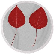 Leafs Rouge Round Beach Towel
