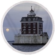 Ledge Light Round Beach Towel