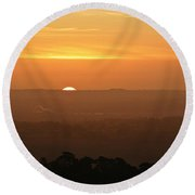 Leicestershire Sunrise Round Beach Towel by Linsey Williams