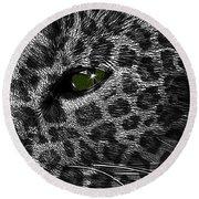 Leopard Within Round Beach Towel
