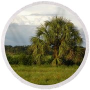 Levy Countryside Cc Round Beach Towel