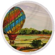 Lift Off Round Beach Towel by John Williams