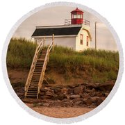 Lighhouse Cousins Shore Pei Round Beach Towel