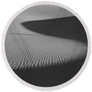 Light And Shade Round Beach Towel