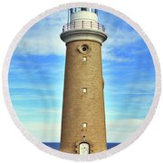 Light House At Cape Du Couedic Round Beach Towel